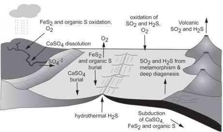Long Term Sulfur Cycle