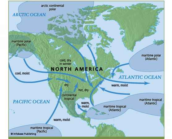 Air Masses North America