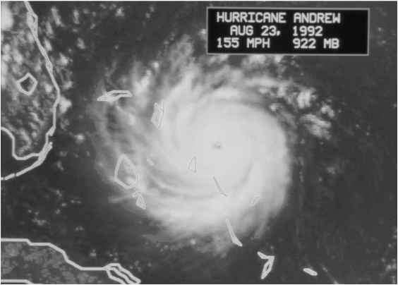 Hurricane Andrew 22nd August 1992