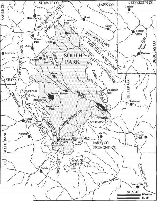 Porcupine Cave Colorado Map