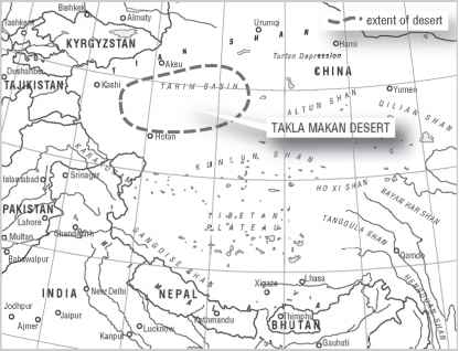 Taklamakan And Gobi Desert Map